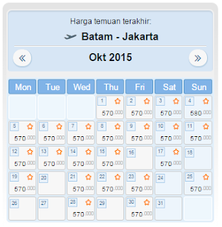 harga tiket pesawat batam jakarta oktober 2015