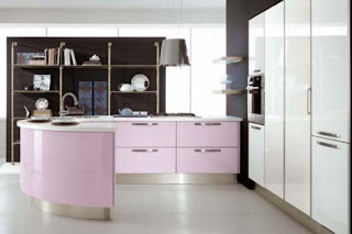 Pink Kitchen Cabinet
