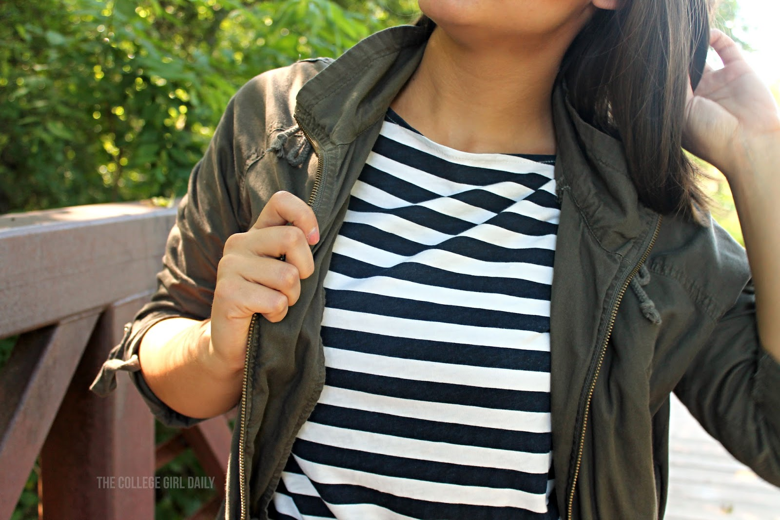 Casual, summer, stripes, glasses, jacket, foreve 21, boots, spring, red lipstick, nature, ootd,