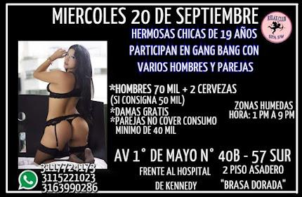 MIERCOLES 20 DE SEPTIEMBRE DE 1 PM A 9 PM HERMOSAS ESPOSAS INFIELES