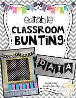 https://www.teacherspayteachers.com/Product/Editable-Classroom-Bunting-1973407