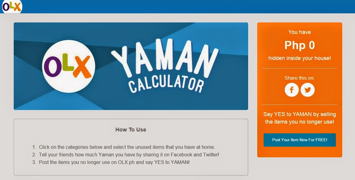 FTW!Blog, OLX Philippines, OLX, Philippines, Yaman Calculator