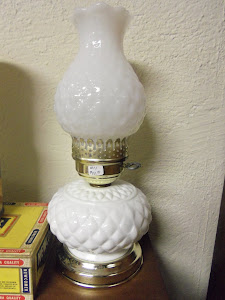 Beautiful Old Milk Glass Lamp