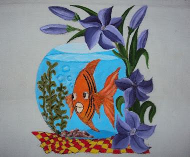 Pintura em tecido (aquário)