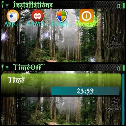 Tampilan aplikasi Time Off