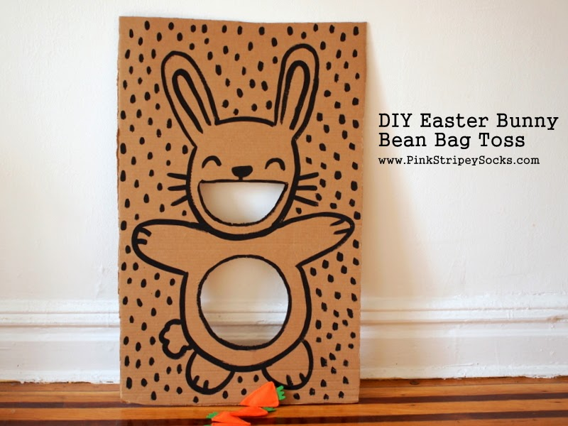 DIY Easter Bunny Bean Bag Toss