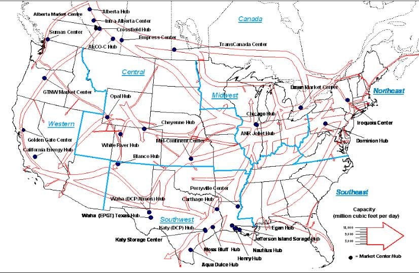 Texas Natural Gas Hubs