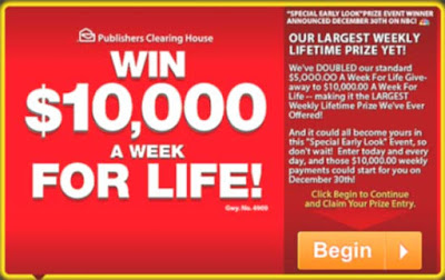 PCH $10,000 a Week for Life