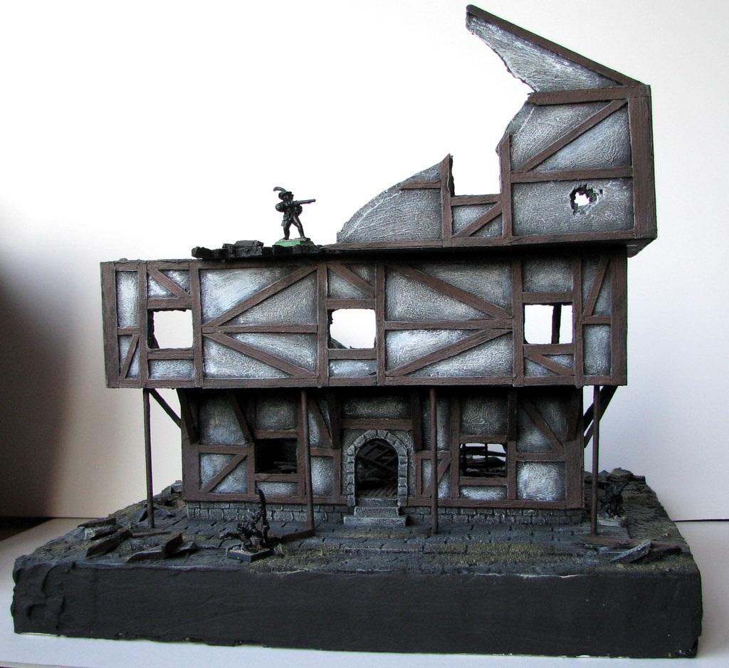 Ruiny budynku do gry Mordheim
