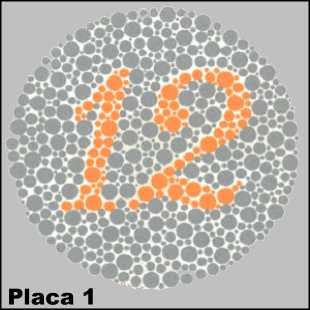 Teste de Ishihara - Placa número 1