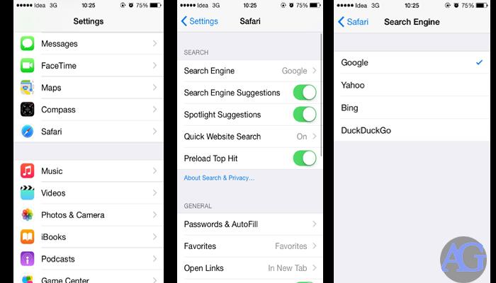 Tips for the Safari on iOS 8.1