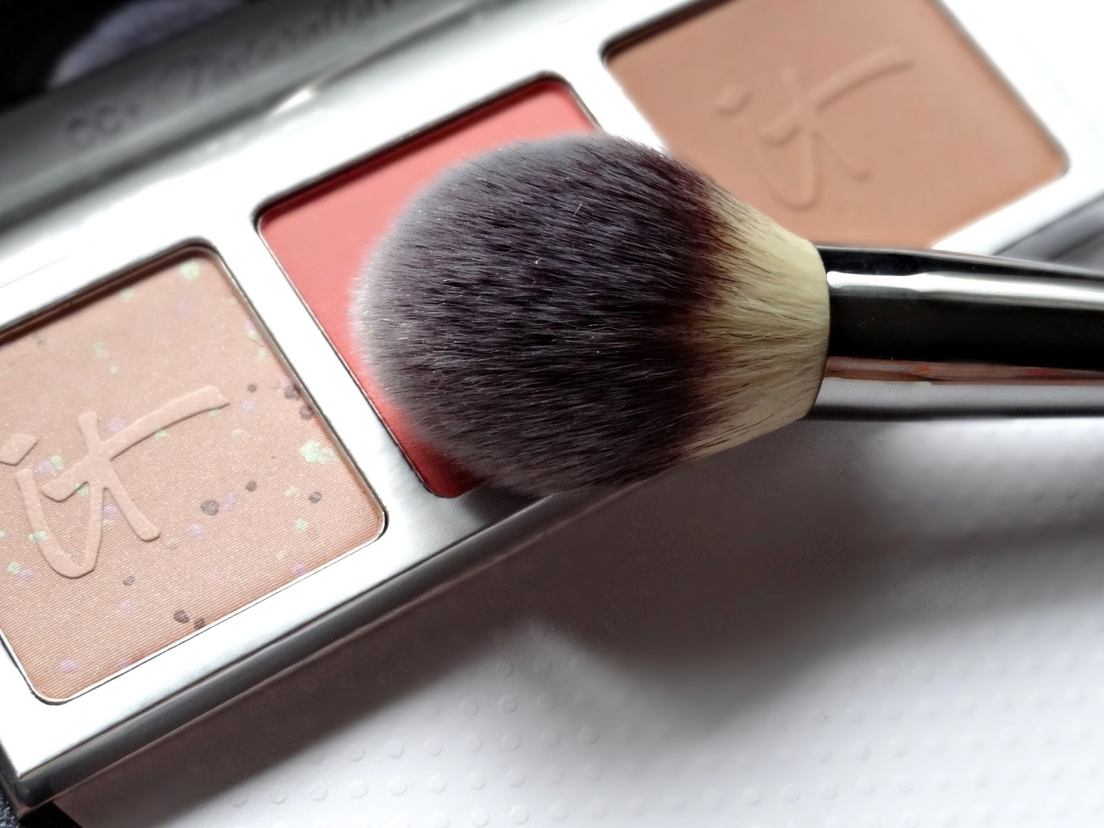 IT Cosmetics CC+ Radiance Palette and Heavenly Luxe Wand Ball Brush