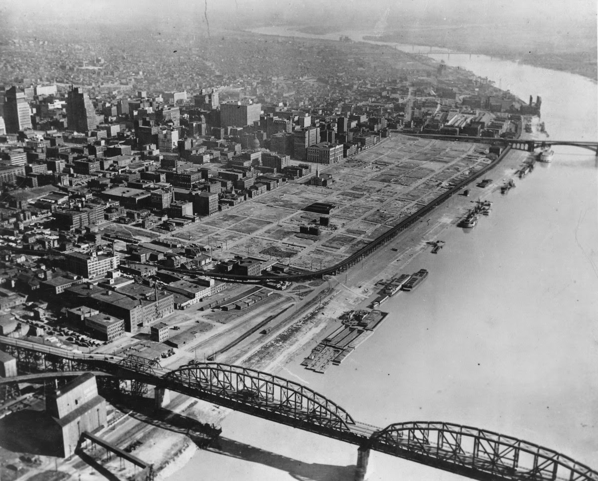 Cleared Land On St Louis's Riverfront, Once A