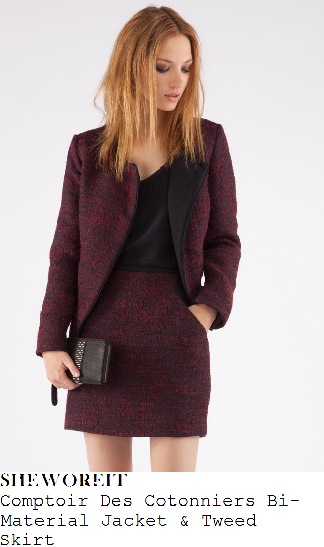 millie-mackintosh-purple-red-tweed-jacket-and-skirt