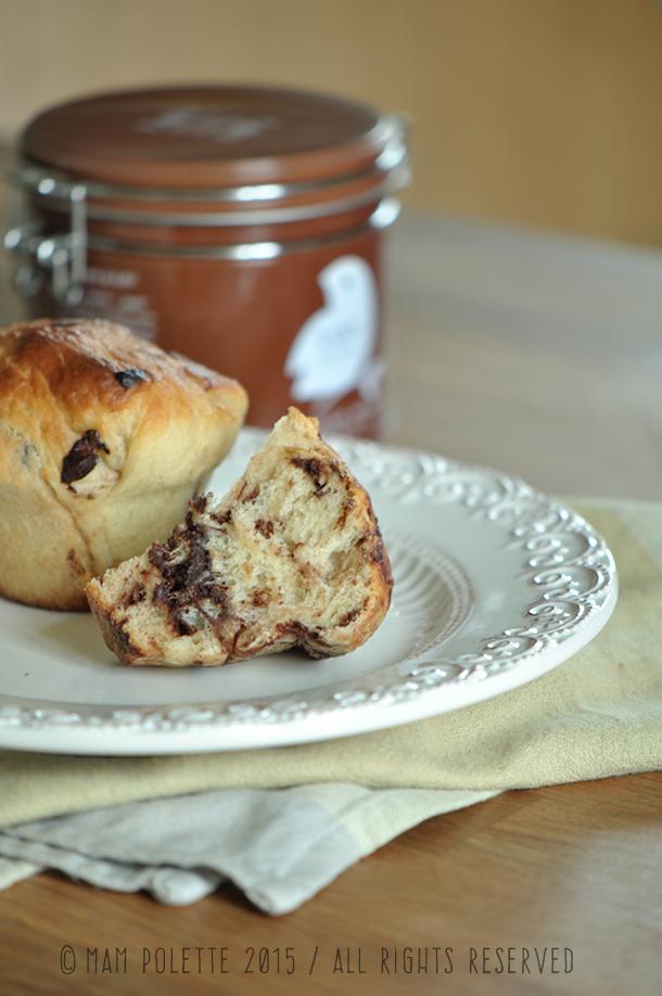 Muffins aux pépites de chocolat avec thé rouge Lov