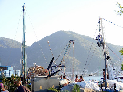 Fishermen on Fethiye Harbour