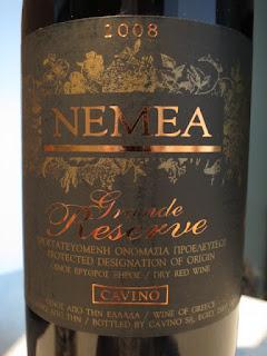 Cavino Grande Reserve 2008 - PDO Nemea, Greece (88 pts)