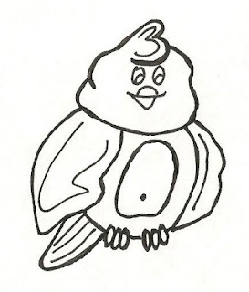 Baby Chicken Hawk Coloring Sheet Clip Art Image How to Draw a Bird