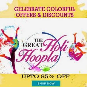 Holi Deals upto 85% off + 5% off – Shopclues The Great Holi Hoopla
