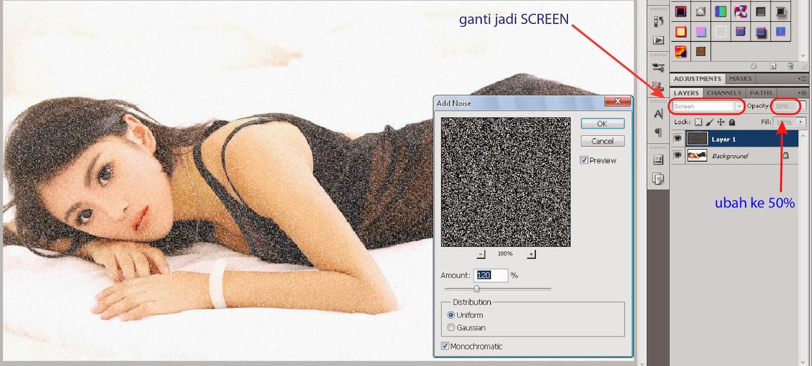 Tutorial Membuat Efek Kanvas Pada Foto Dengan Photoshop