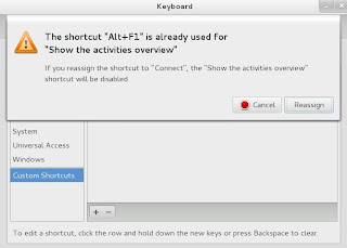 GNOME 3.4.2 CUSTOM KEYBOARD SHORTCUT ASSIGN ERROR