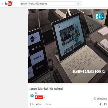 youtube com - samsung galaxy book 12 ön incelemesi