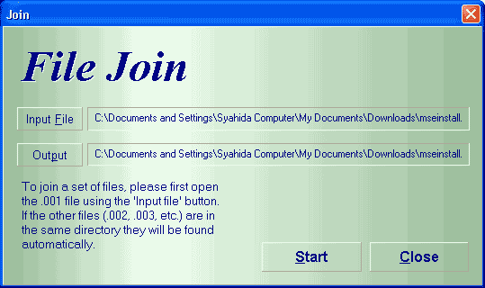 join file