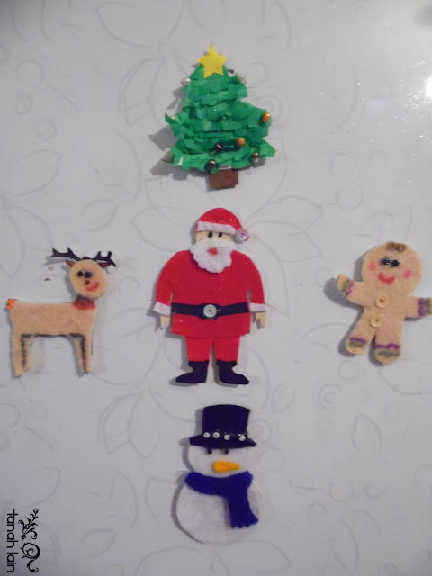 Imanes navideños para el refrigerador