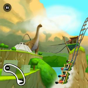 3D Rollercoaster Rush Jurassic 2 Game For Blackberry