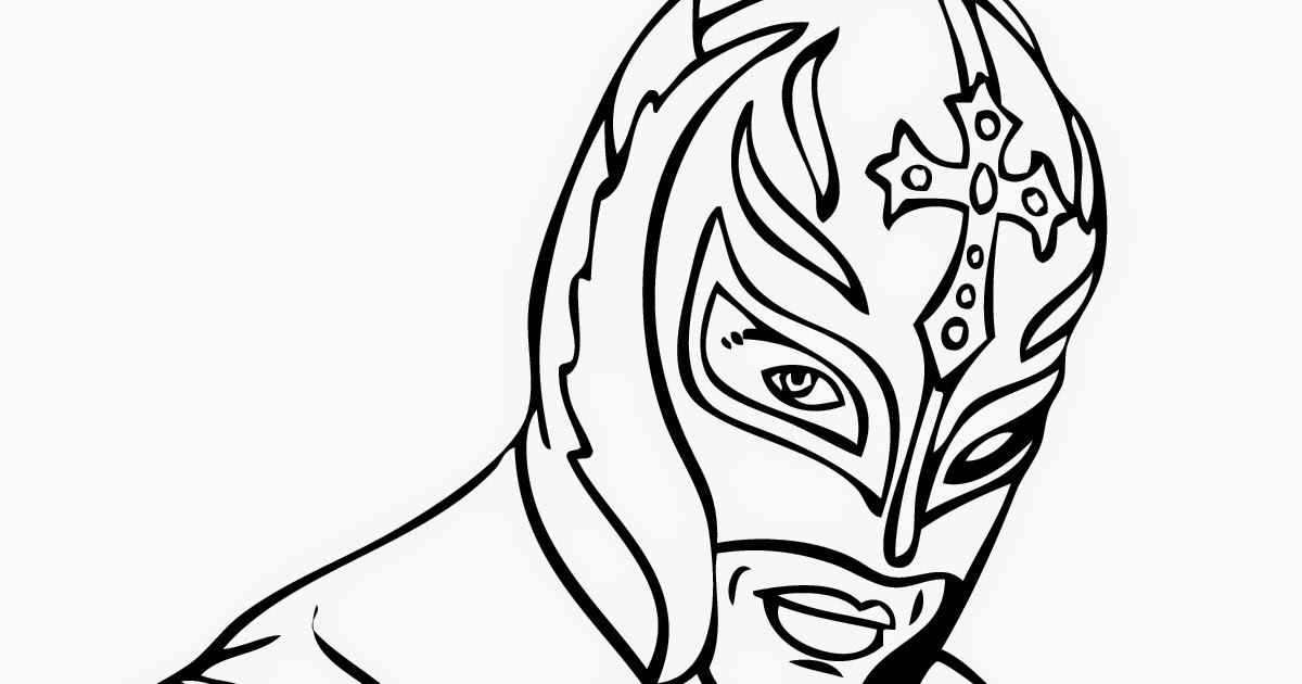 Rey Mysterio Coloring Pages Instant Knowledge Mysterio Coloring Pages