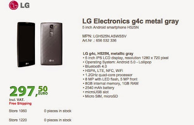 LG G4c to Hit in Europe for $318 in June 2015