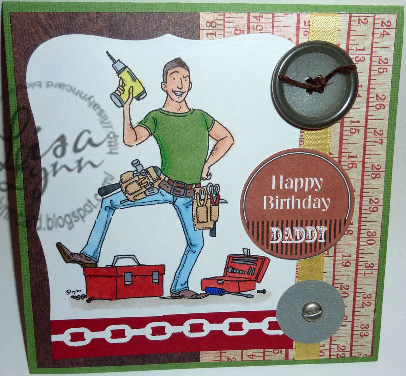 Lisa Lynn s Card Creations Happy Birthday Daddy