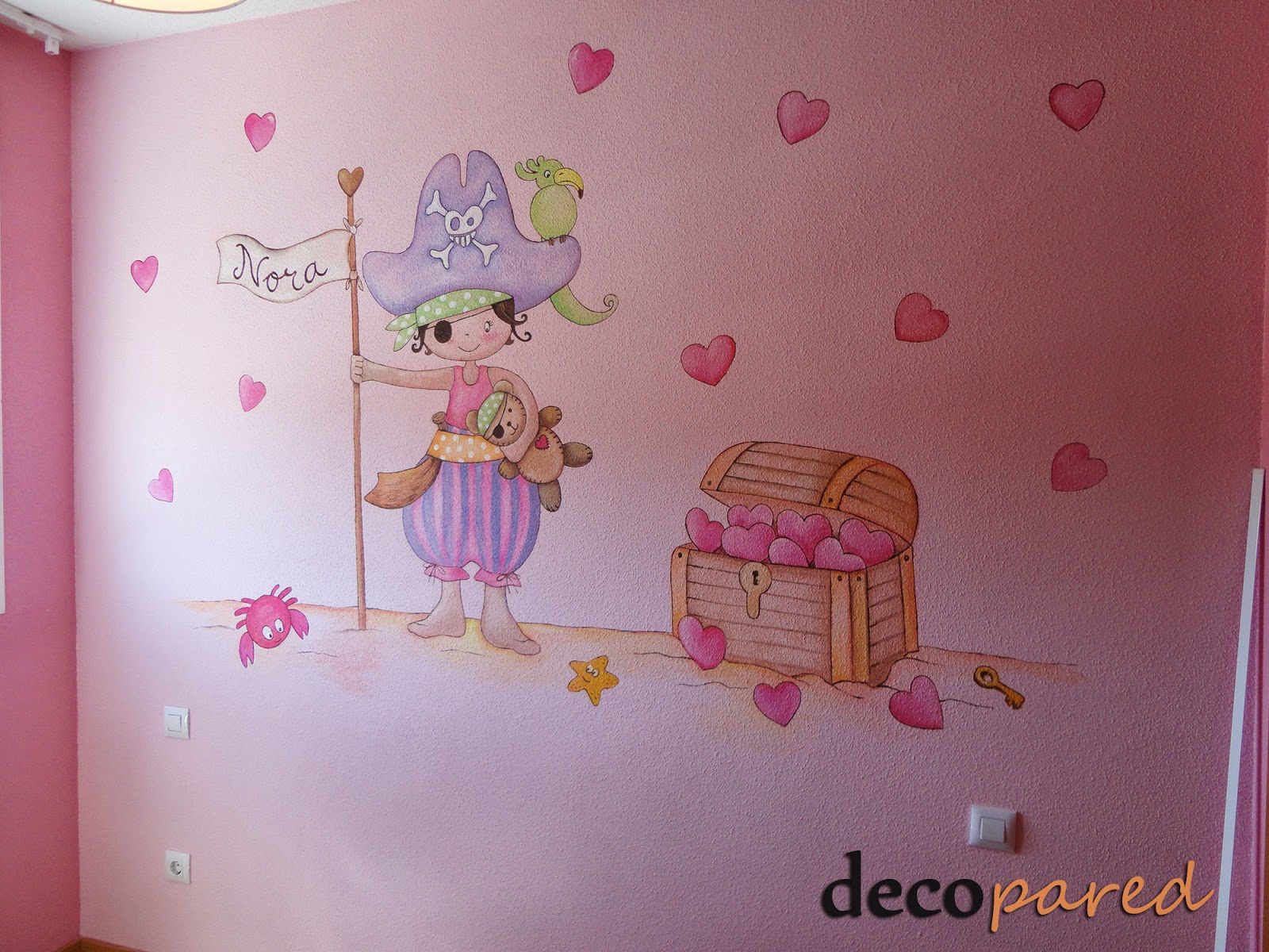 Decopared murales infantiles de piratas para los peques for Ideas para decorar paredes infantiles