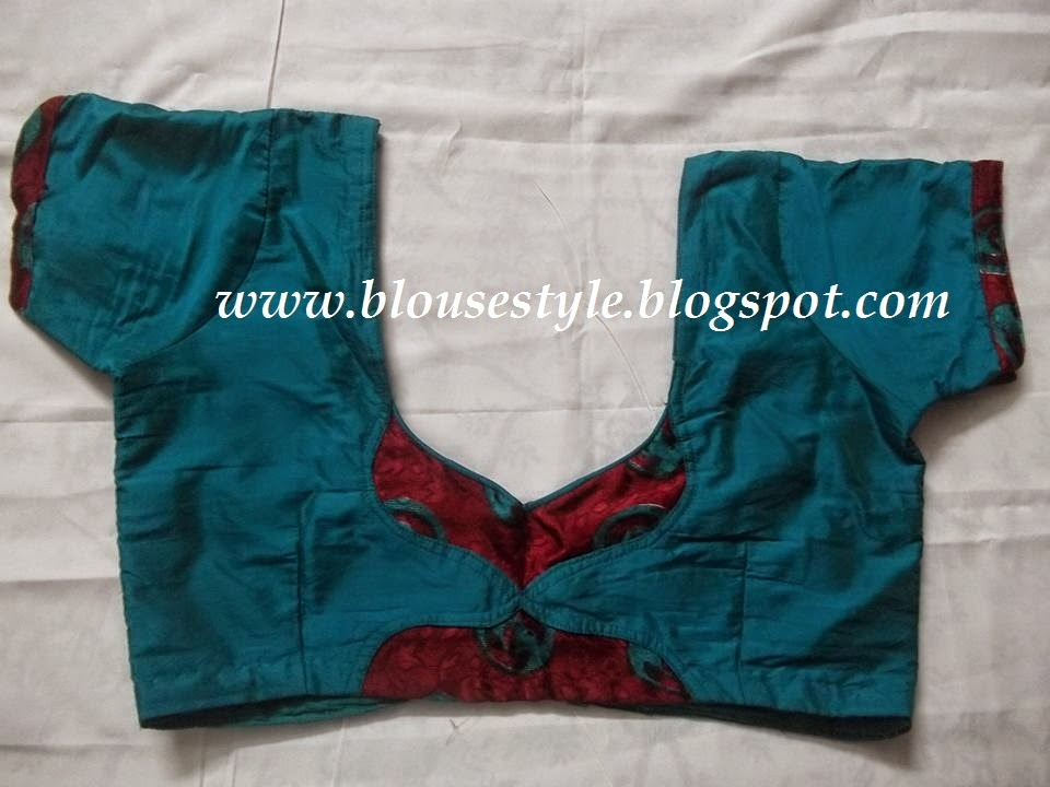 different type  neck blouse