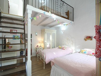 Mezzanine floors in kid's rooms.