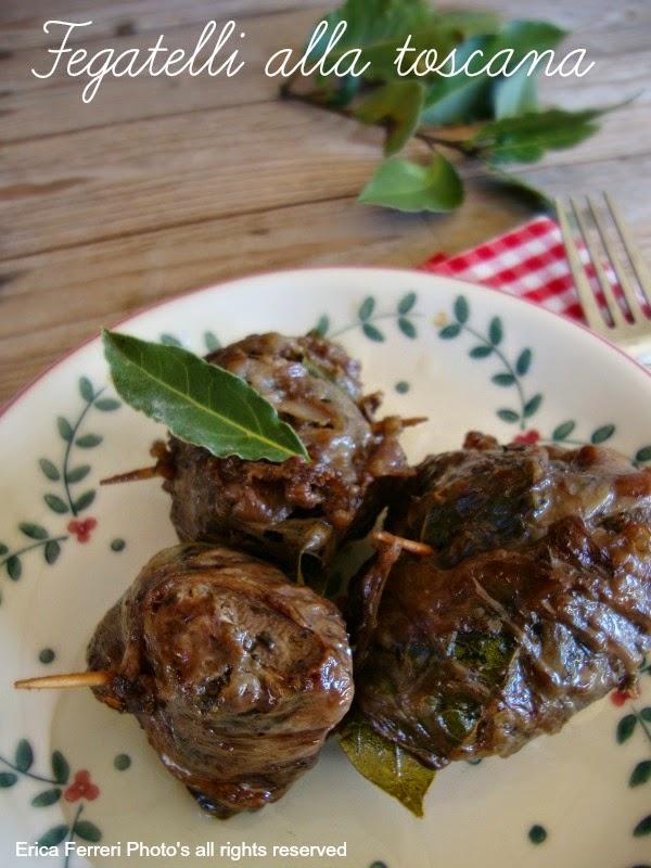 Ricetta tradizionale toscana i fegatelli di maiale