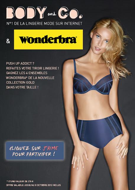 8 parures Wonderbra Gold