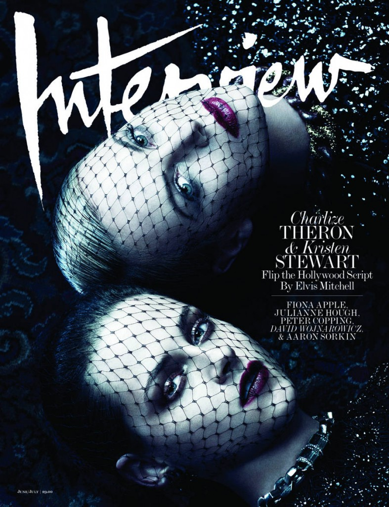 Interview June / July 2012 : Charlize Theron & Kristen Stewart by Mikael Jansson
