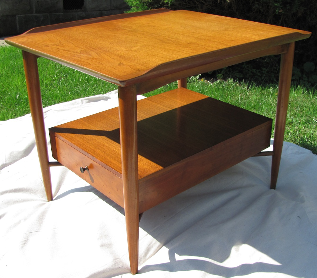 Nice This Side Table (or Lamp Table) Was Made By The Morganton Furniture Company,  Of Morganton North Carolina, Probably Around 1957 60.
