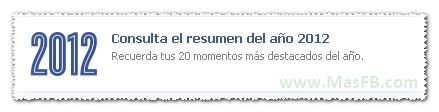 Resumen anual Facebook