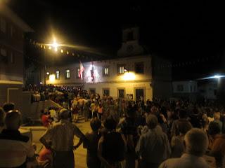 Pregón en el Ayuntamiento de Lagunilla que da inicio a las fiestas patronales.