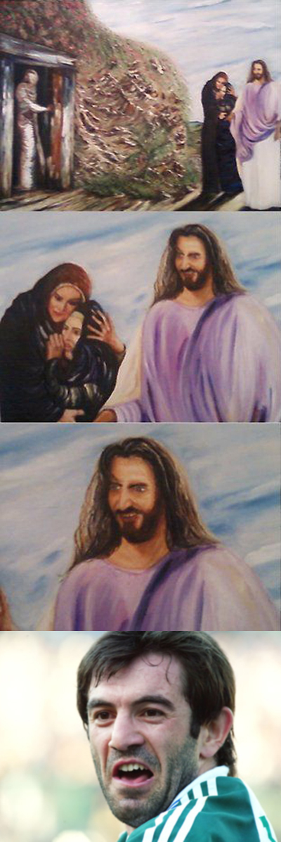ΒΙΒΛΙΚΗ ΑΣΧΗΜΙΑ Jesus+fucking+karagounis