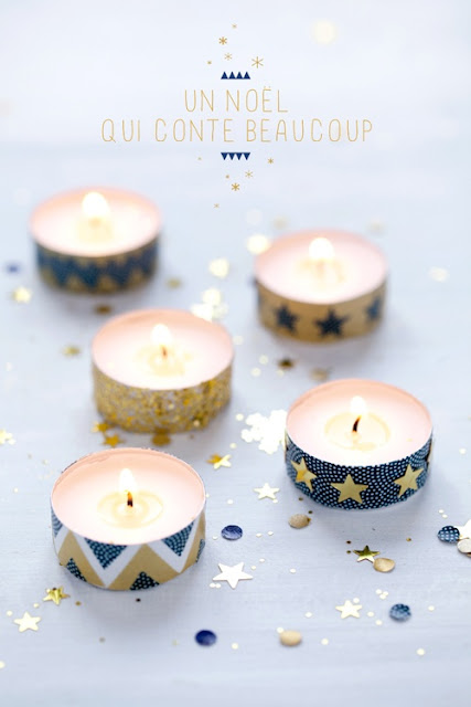 Candles with washi tape
