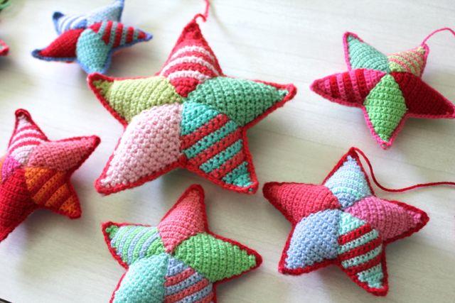 Adornos de Navidad de ganchillo - Estrellas de ganchillo