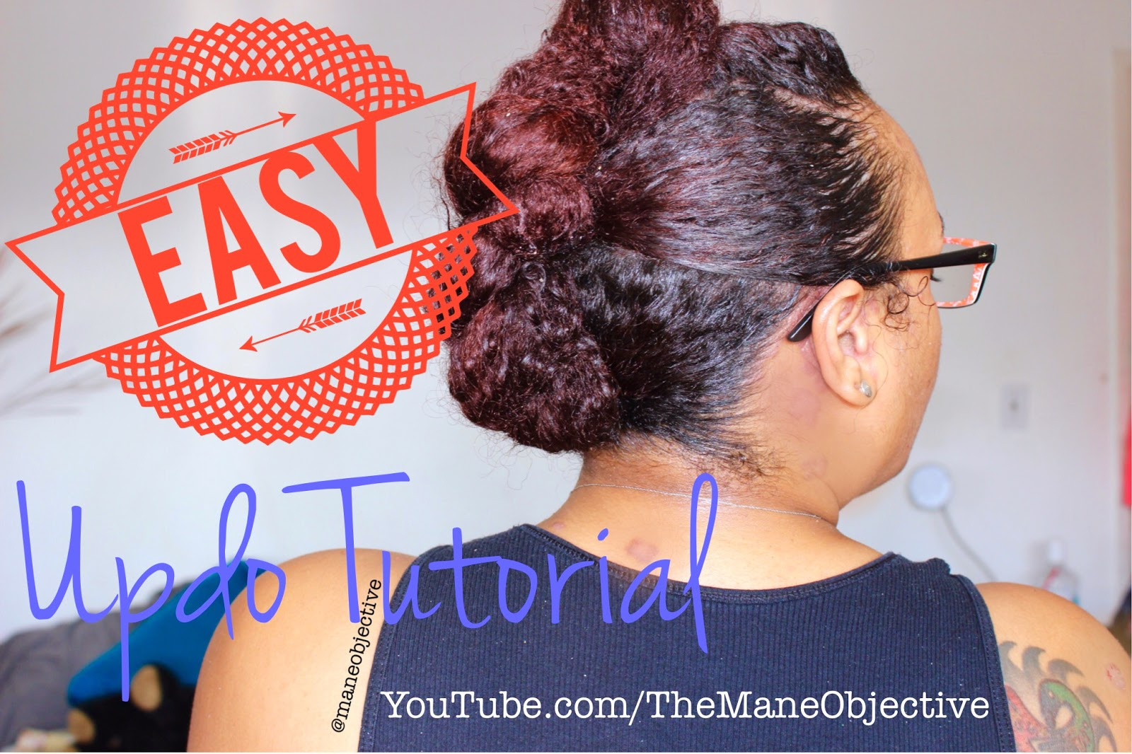 EASY Updo for Natural Hair (Zero Skill Required) -- Great for Transitioners, Too!