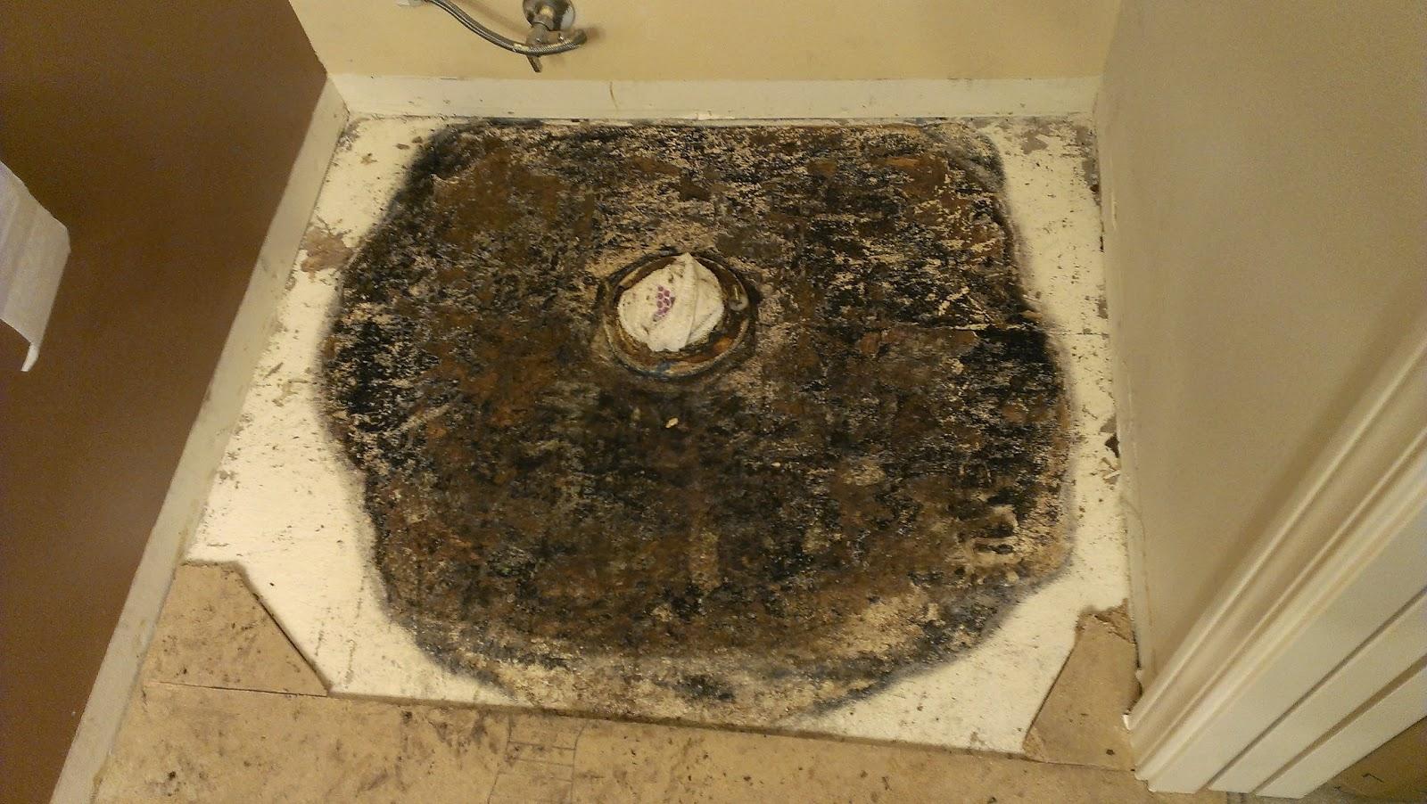 Bathroom Leaking To Floor Below : Replacing a rotted bathroom floor after toilet leak