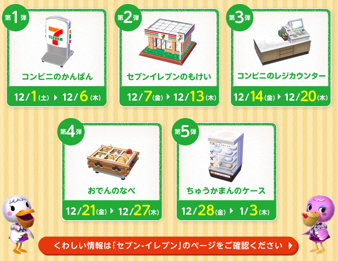 Otaku Rakuen La colección de muebles de 7Eleven de Animal Crossing