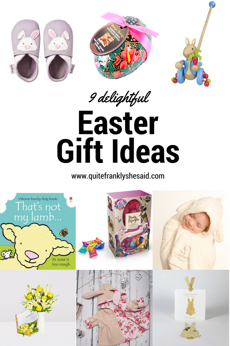 9 delightful easter gift ideas quite frankly she said ive found some fantastic ideas for children of all ages and adults too heres my easter gift guide featuring lots of great gifts that are a little more negle Image collections