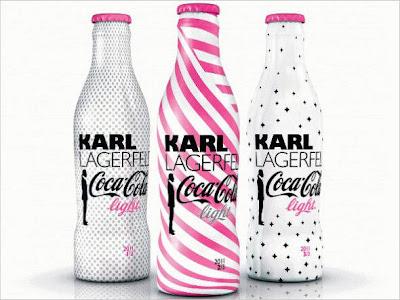 Coca-Cola lança novas garrafas de Karl Lagerfeld