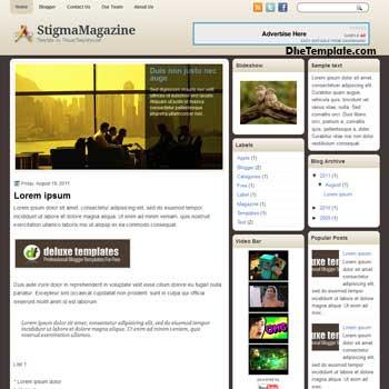 StigmaMagazine blogger template. template blogspot magazine style